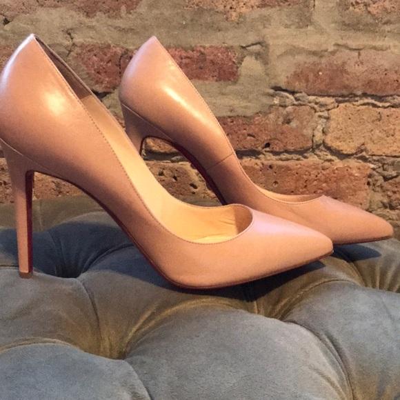 "84f0e1ef4e4c Christian Louboutin Shoes - Christian Louboutin ""Pigalle 100"" Nude Pumps sz  39"